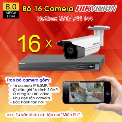 TRỌN BỘ 16 CAMERA IP HIKVISION 8.0MP