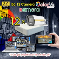BỘ 12 CAMERA HIKVISION COLORVU 2.0MP