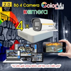 BỘ 4 CAMERA HIKVISION COLORVU 2.0MP