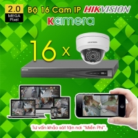 TRỌN BỘ 16 CAMERA IP HIKVISION 2.0MP