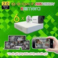 TRỌN BỘ 06 CAMERA IP HIKVISION 2.0MP