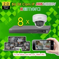 TRỌN BỘ 08 CAMERA IP HIKVISION 2.0MP