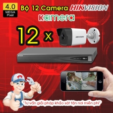 TRỌN BỘ 12 CAMERA IP HIKVISION 4MP