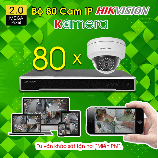 TRỌN BỘ 80 CAMERA IP HIKVISION 2.0MP