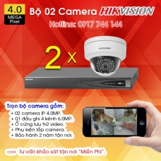 TRỌN BỘ 02 CAMERA IP HIKVISION 4.0MP