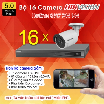 TRỌN BỘ 16 CAMERA IP HIKVISION 5.0MP