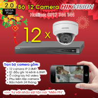TRỌN BỘ 12 CAMERA IP HIKVISION 2.0MP