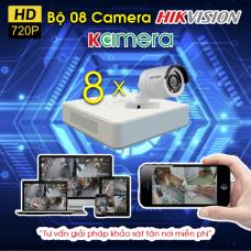 TRỌN BỘ 8 CAMERA HIKVISION 720P