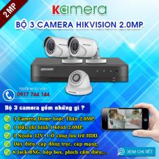TRỌN BỘ 3 CAMERA HIKVISION 1080P