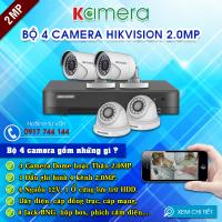 TRỌN BỘ 4 CAMERA HIKVISION 1080P
