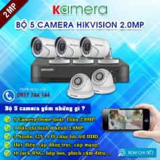TRỌN BỘ 5 CAMERA HIKVISION 1080P
