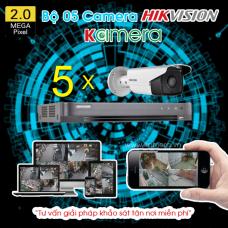 TRỌN BỘ 05 CAMERA HIKVISION 1080P