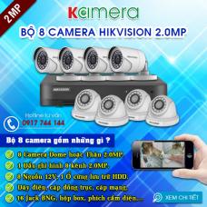 TRỌN BỘ 8 CAMERA HIKVISION 1080P