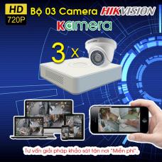 TRỌN BỘ 03 CAMERA HIKVISION 720P